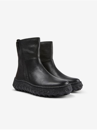 Černé dámské kotníkové kožené boty Camper Rancho