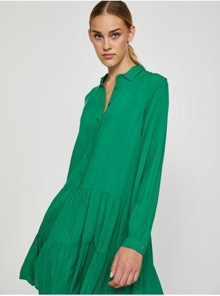 Zelené dámske košeľové šaty TOP SECRET