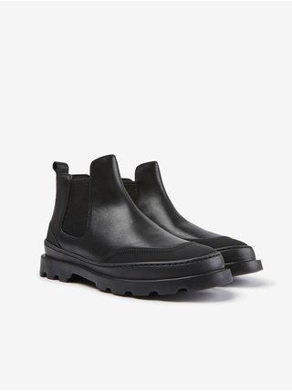 Čierne dámske členkové kožené topánky Camper Cien