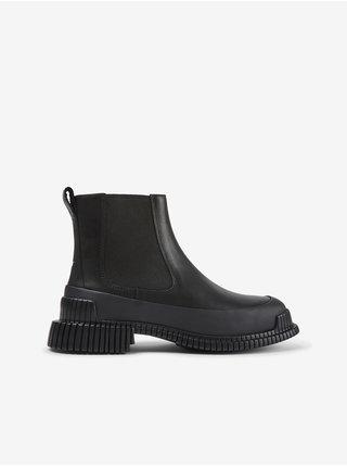 Černé dámské kotníkové kožené boty Camper Mugello