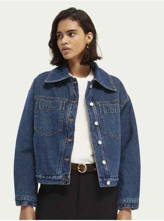Modrá dámská džínová bunda Scotch & Soda