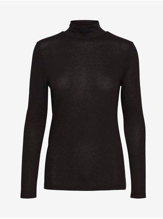 Černé dámské prodloužené tričko se stojáčkem VERO MODA Carla