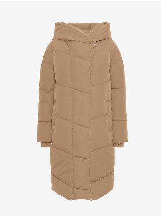Hnedý zimný kabát Noisy May Tally
