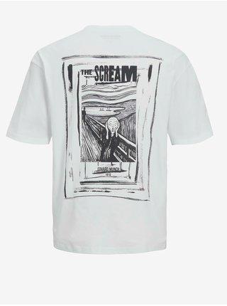 Bílé tričko Jack & Jones Scream