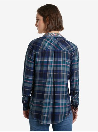 Modrá dámská kostkovaná košile Desigual Susan Sontag