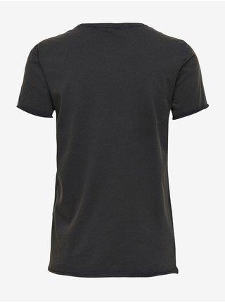 Černé dámské tričko s potiskem ONLY Lucy