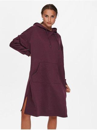 Šaty na denné nosenie pre ženy ONLY - vínová