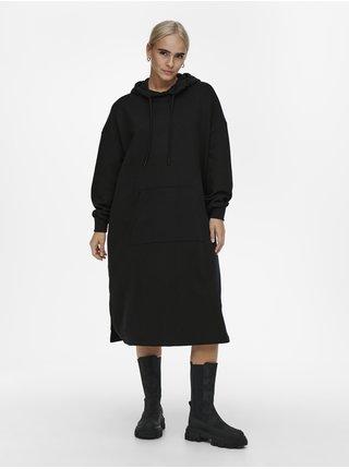 Černé dámské oversize mikinové šaty ONLY Chelsea