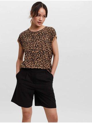 Tričká s krátkym rukávom pre ženy AWARE by VERO MODA - hnedá
