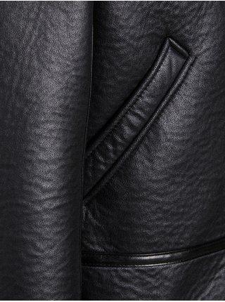 Černá koženková bunda Jack & Jones Rocco