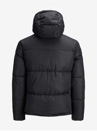 Zimné bundy pre mužov Jack & Jones - tmavosivá