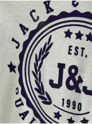 Světle šedé tričko Jack & Jones Flocker