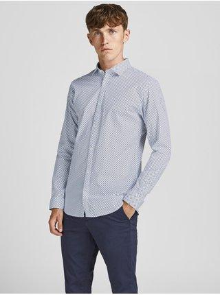 Bílo-modrá vzorovaná košile Jack & Jones Blackpool