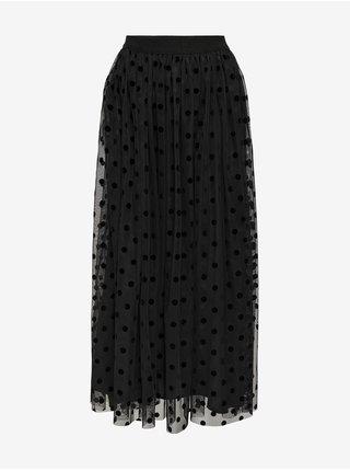 Černá puntíkovaná sukně ONLY Eleanor