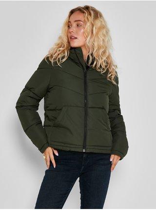 Khaki dámská prošívaná zimní bunda Noisy May Dalcon