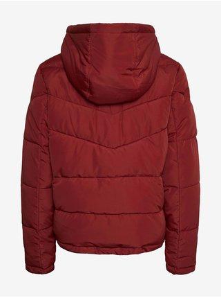 Červená dámská prošívaná zimní bunda Noisy May Dalcon