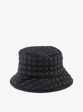 Černý dámský vzorovaný klobouk Pieces Ana