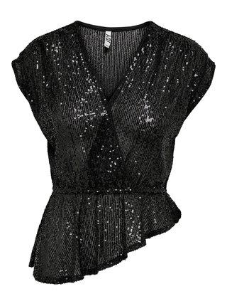 Černá halenka s flitry Jacqueline de Yong Vega