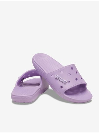 Crocs fialové šľapky Classic Crocs Slide Orchid