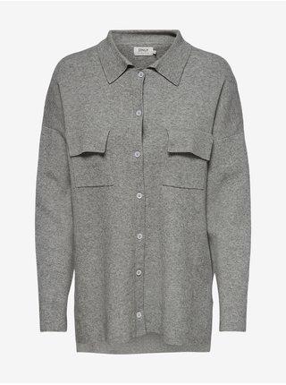 Šedá dámská košile ONLY Kamma