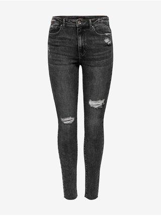 Tmavě šedé dámské skinny fit džíny ONLY Blake