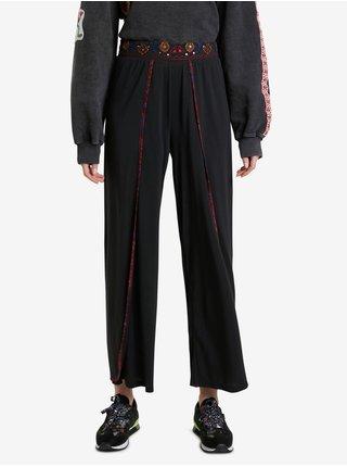 Černé dámské zkrácené kalhoty Desigual Dubai