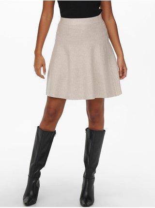 Béžová dámska sukňa ONLY Lynsie