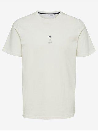 Bílé pánské tričko Selected Homme Kody