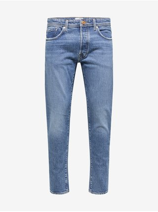 Modré pánské slim fit džíny Selected Homme Toby