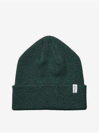 Zelená pánska rebrovaná zimná čiapka Selected Homme Loyd