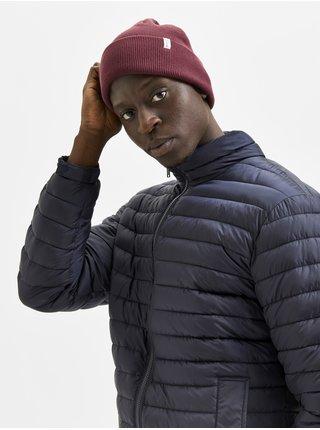 Vínová pánska rebrovaná zimná čiapka Selected Homme Loyd