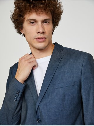 Tmavě modré oblekové sako s příměsí vlny  Selected Homme My Lobbi