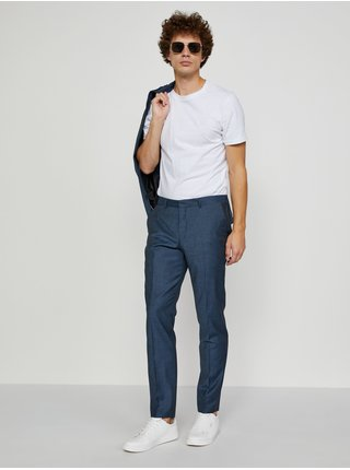 Formálne nohavice pre mužov Selected Homme - tmavomodrá
