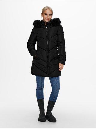 Černý prošívaný kabát ONLY Mynte