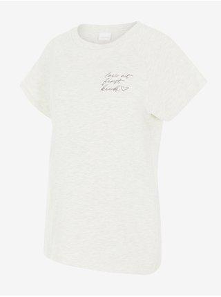 Světle šedé dámské těhotenské tričko s potiskem Mama.licious Kiky