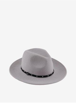 Světle šedý vlněný klobouk Pieces Fijana