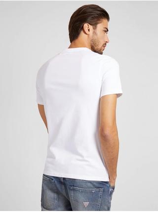 Bílé pánské tričko Guess