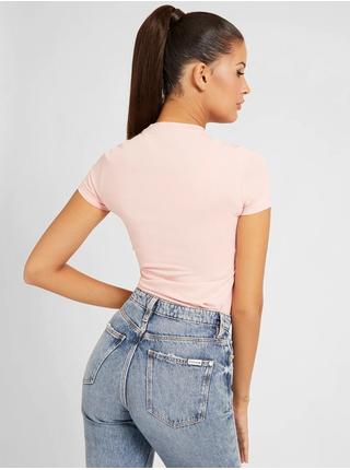 Světle růžové dámské tričko Guess