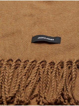 Čiapky, šály, rukavice pre mužov Jack & Jones - hnedá