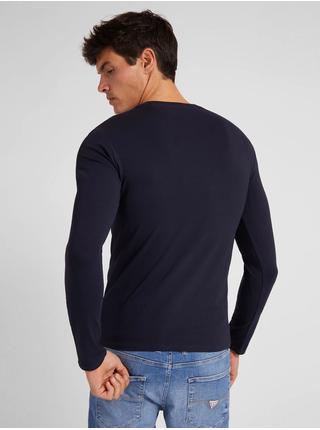 Tmavě modré pánské tričko Guess