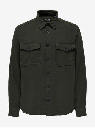Khaki pánská košile s kapsami ONLY & SONS Milo