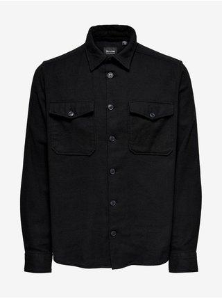 Černá pánská košile s kapsami ONLY & SONS Milo