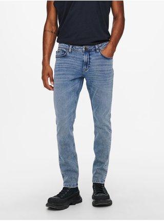 Slim fit pre mužov ONLY & SONS - modrá