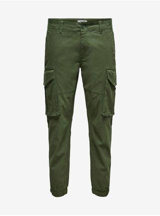Voľnočasové nohavice pre mužov ONLY & SONS - zelená