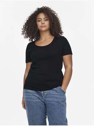 Černé dámské basic tričko ONLY CARMAKOMA Base