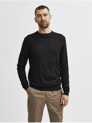 Černý pánský vlněný svetr Selected Homme Town