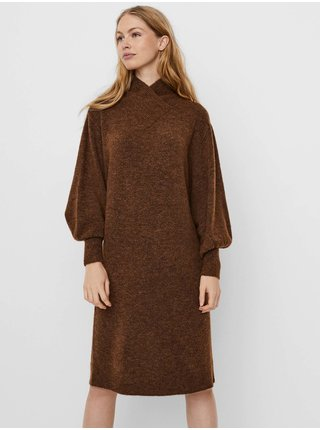Voľnočasové šaty pre ženy VERO MODA - hnedá