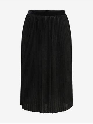 Černá dámská plisovaná midi sukně ONLY Swaya