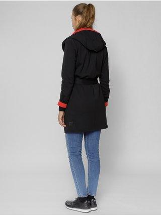 Červeno-černá dámská dlouhá mikina Devergo