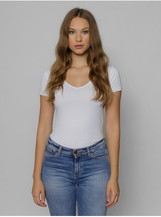 Tričká s krátkym rukávom pre ženy Devergo - biela